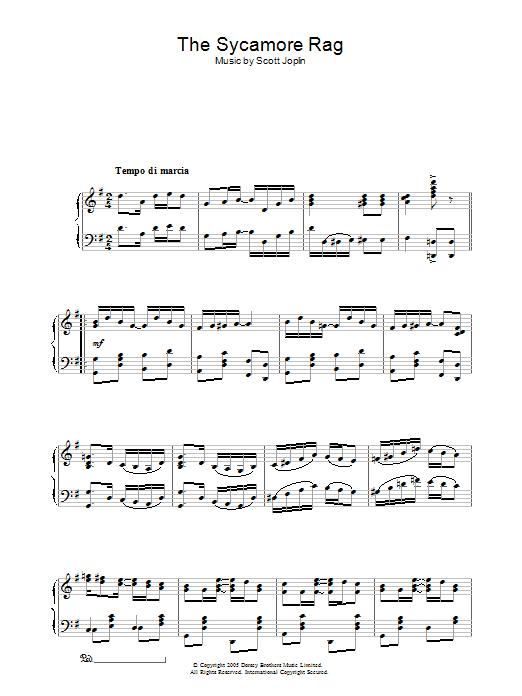 The Sycamore (Piano Solo)