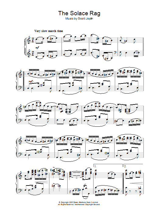 Solace Rag (Piano Solo)