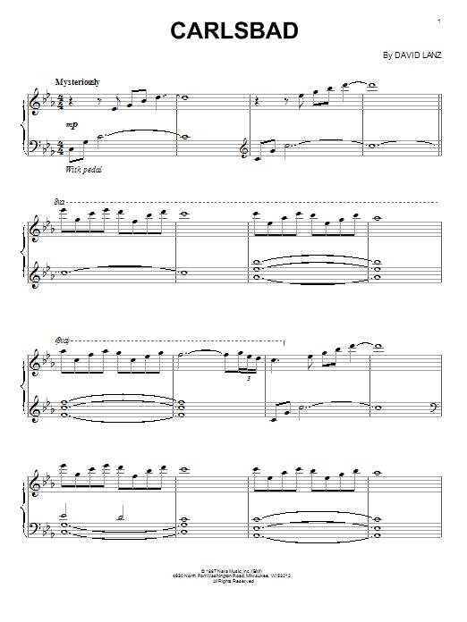 Partition piano Carlsbad de David Lanz - Piano Solo