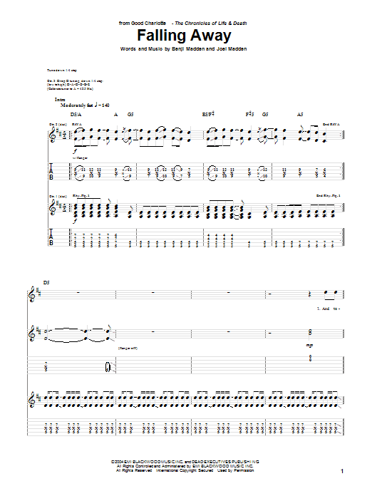 Falling Away Sheet Music