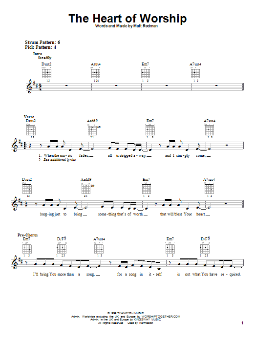 Guitar Chords Heart Of Worship