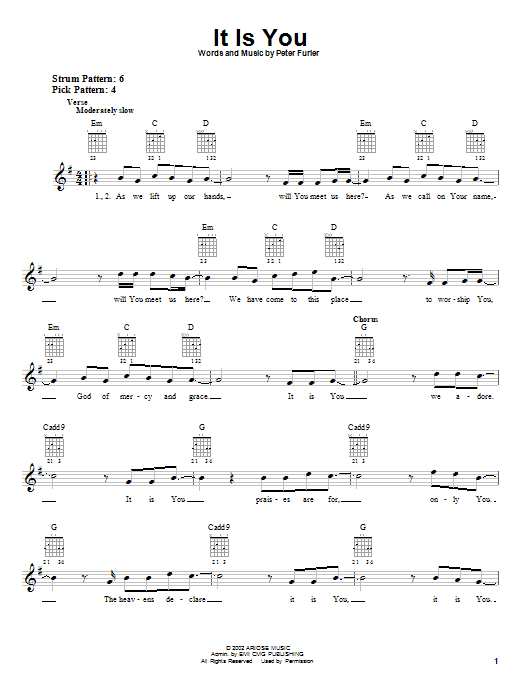 It Is You (Easy Guitar)