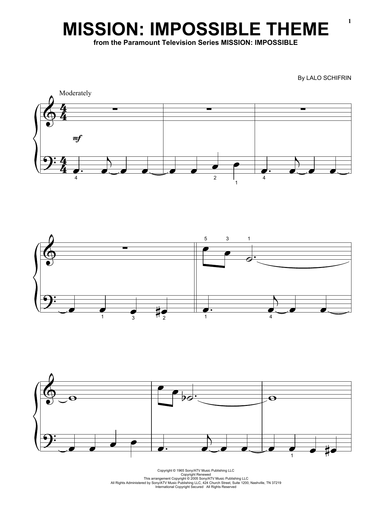 Impossible Theme Sheet Music