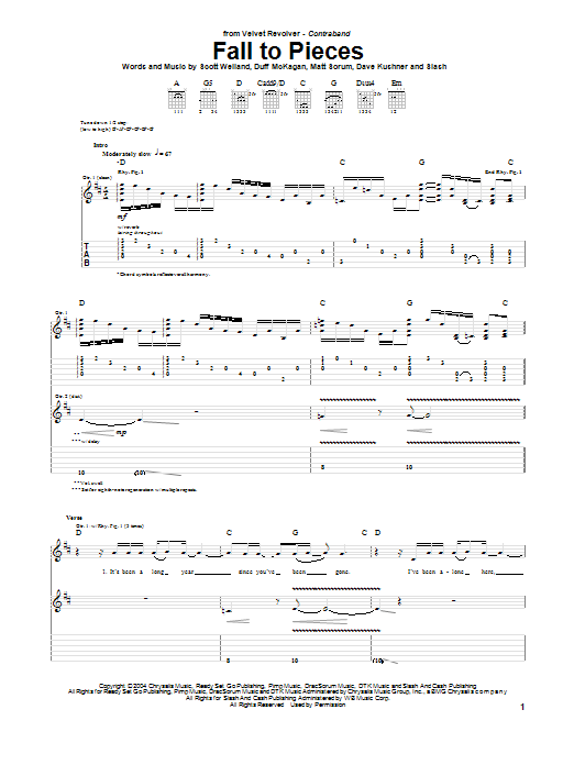 Fall To Pieces Sheet Music