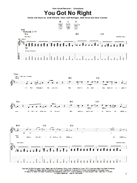 You Got No Right (Guitar Tab)