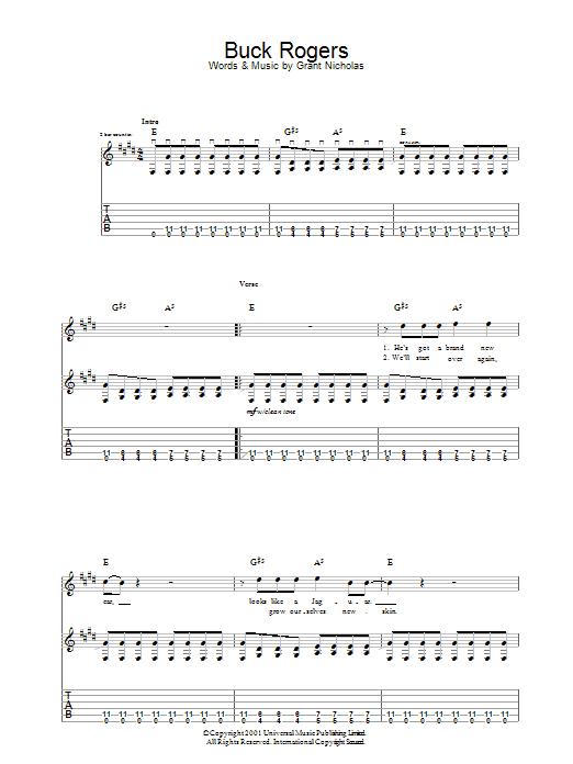 Buck Rogers Sheet Music