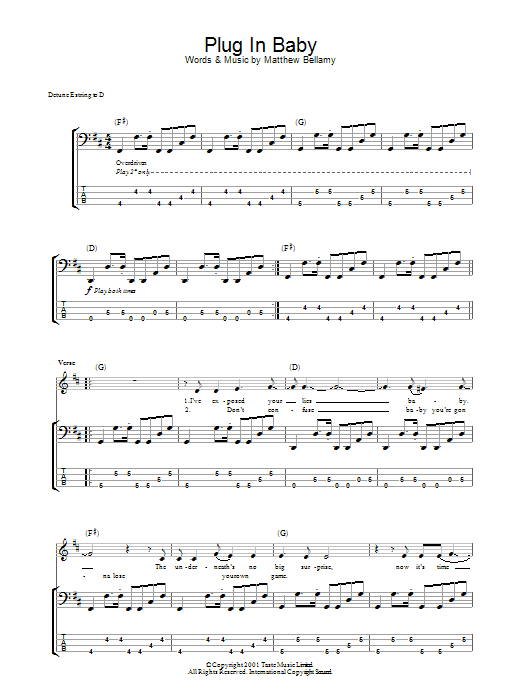 Plug In Baby (Bass Guitar Tab)