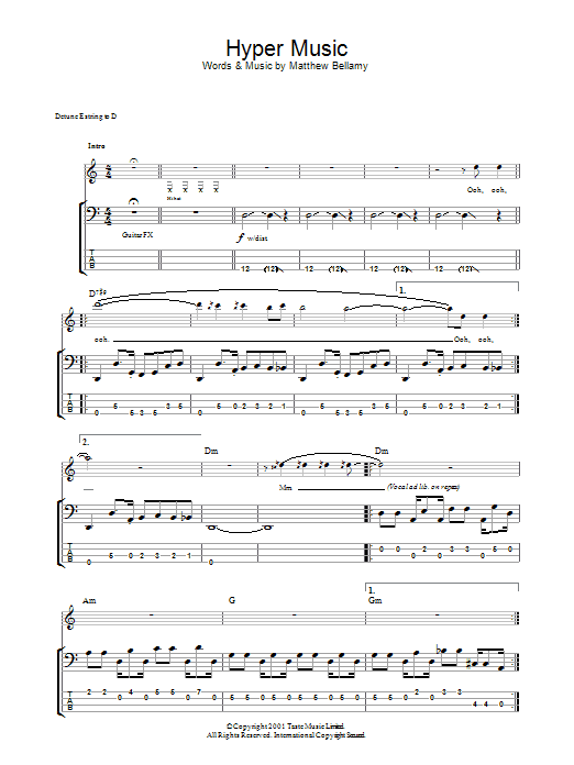 Hyper Music (Bass Guitar Tab)
