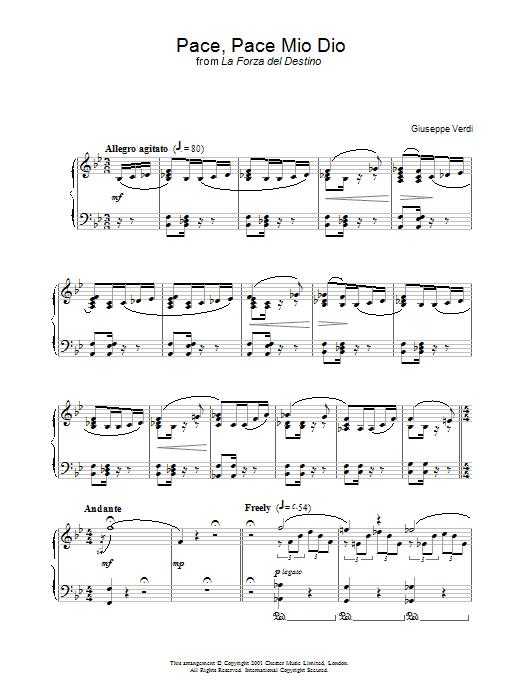 Pace, Pace Mio Dio From 'la Forza Del Destino' (Piano Solo)