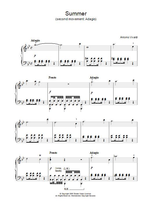 Summer (2nd Movement: Adagio) Sheet Music