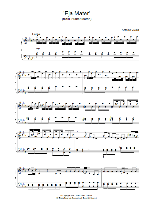 Eja Mater (from Stabat Mater) Sheet Music