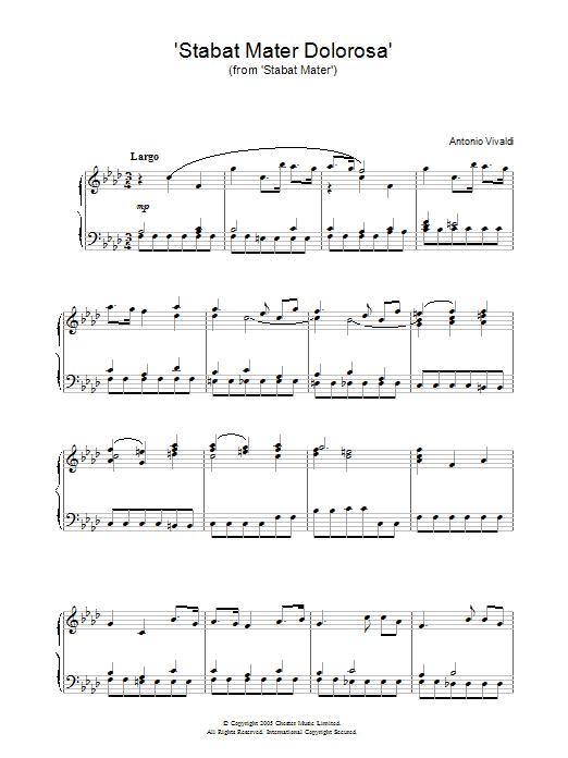 Stabat Mater Dolorosa (from Stabat Mater) Sheet Music