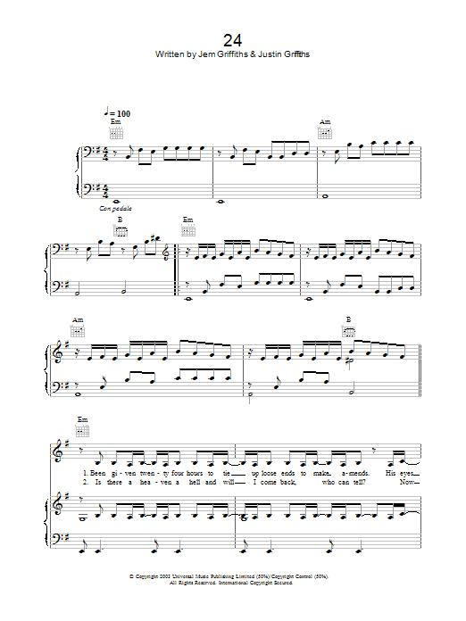 24 (Piano, Vocal & Guitar)