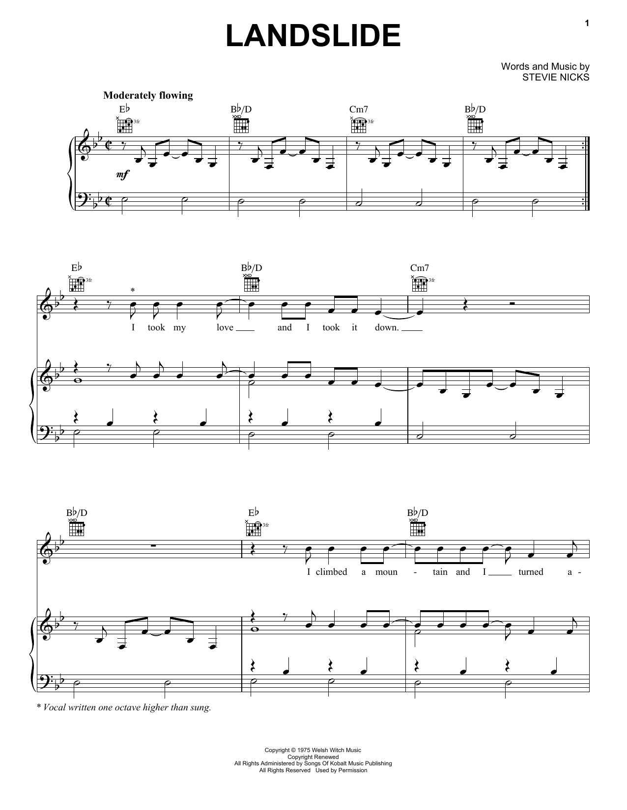 Landslide Sheet Music Direct