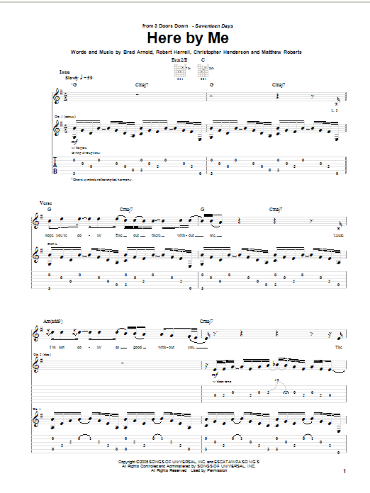 Here By Me Sheet Music