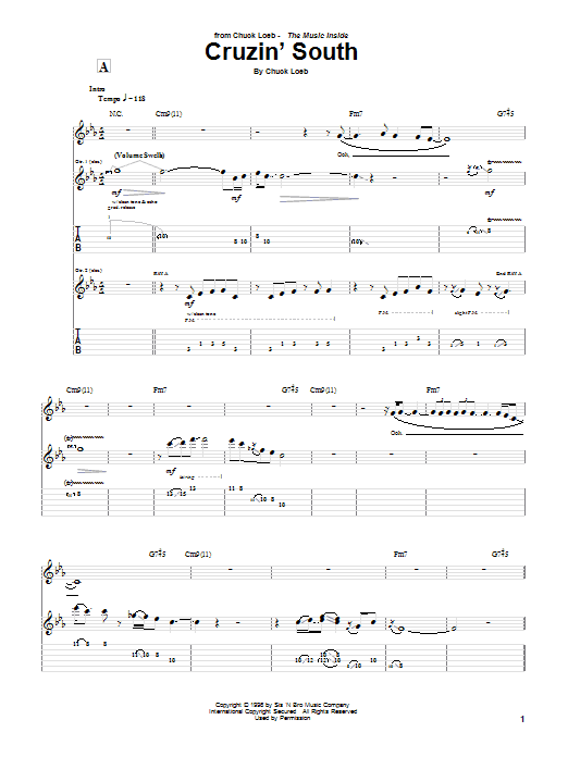 Cruzin' South Sheet Music