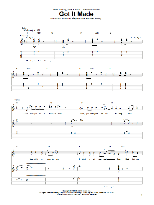 Got It Made Sheet Music