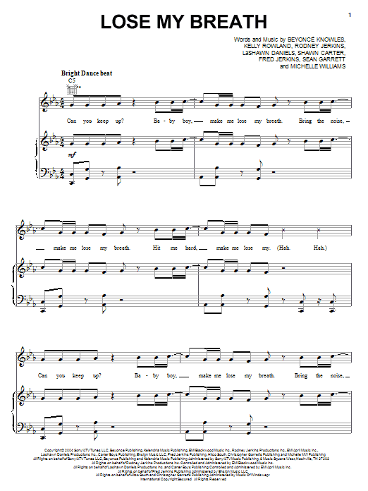 Lose My Breath Sheet Music