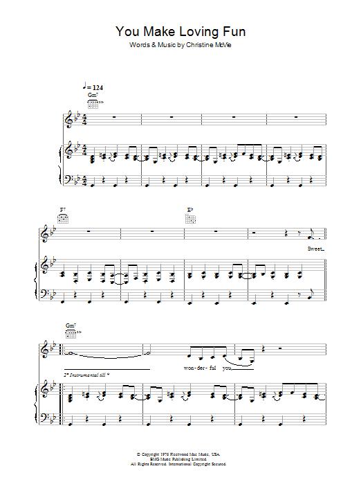 You Make Loving Fun (Piano, Vocal & Guitar)