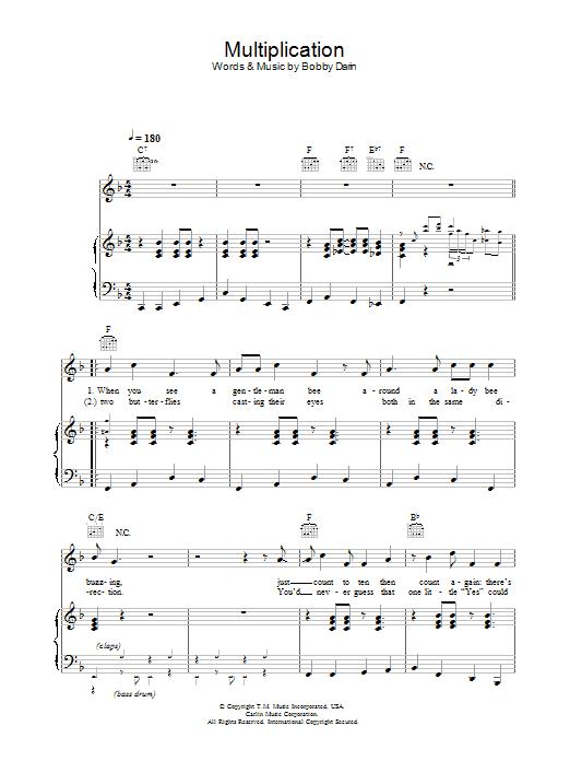 Multiplication (Piano, Vocal & Guitar)