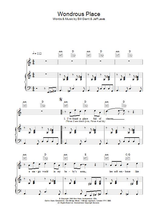 Wondrous Place Sheet Music