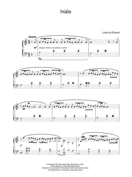 Inizio (Piano Solo)