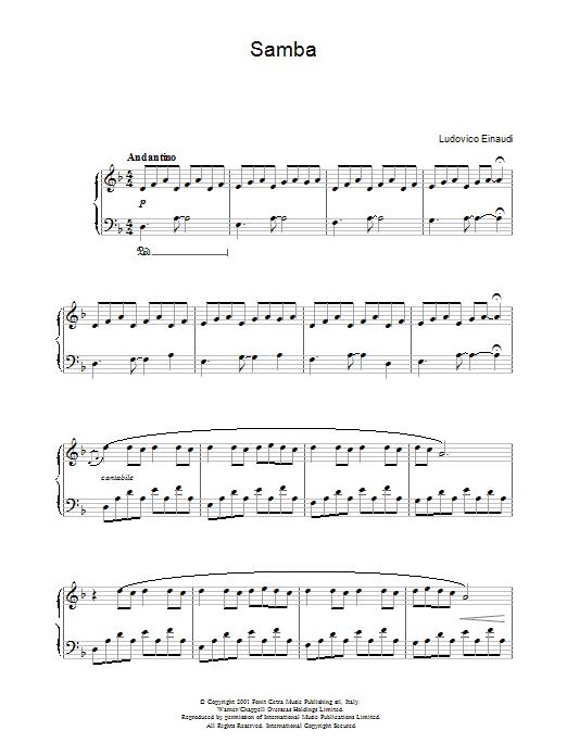 Samba Sheet Music