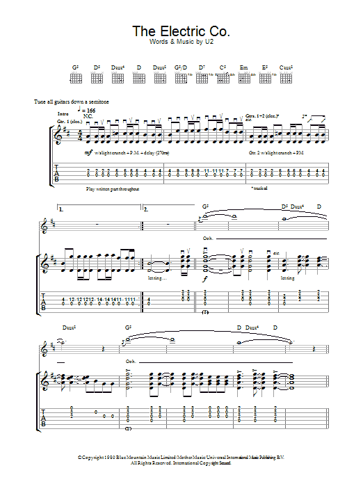 The Electric Co. Sheet Music