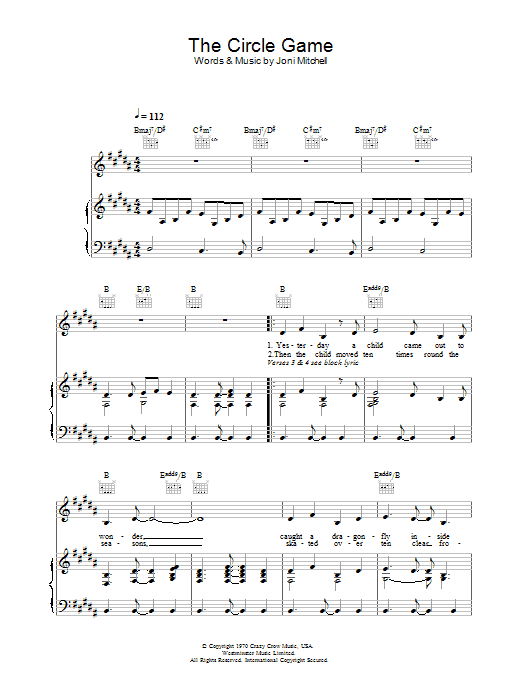 Joni Mitchell - The Circle Game (Chords) - Ultimate-Guitar.Com