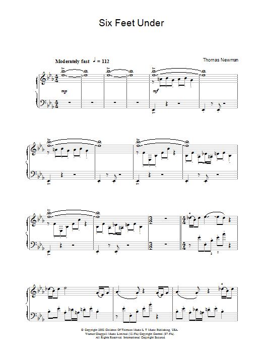 Six Feet Under (Theme) (Piano Solo)