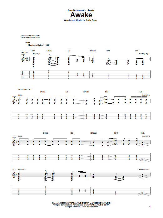Awake Sheet Music