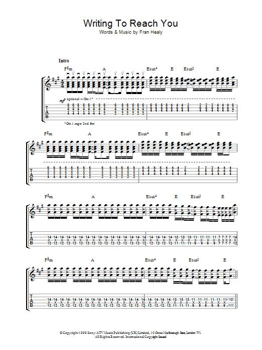 Writing To Reach You (Guitar Tab)