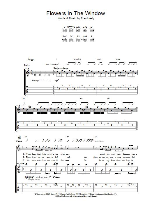Flowers In The Window (Guitar Tab)