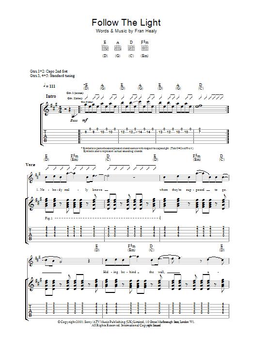 Follow The Light (Guitar Tab)