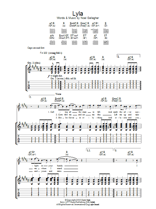 Lyla (Guitar Tab)