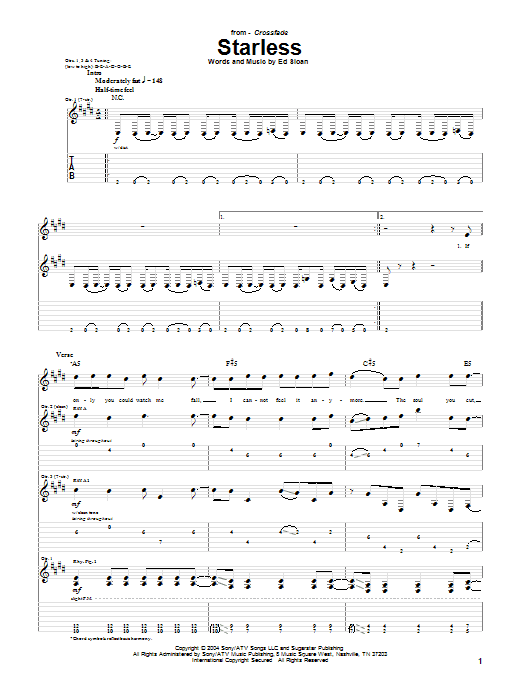 Starless Sheet Music