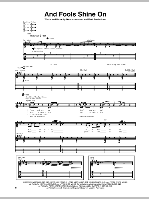 And Fools Shine On (Guitar Tab)