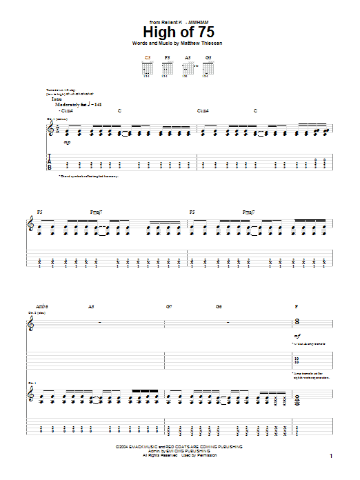 High Of 75 Sheet Music