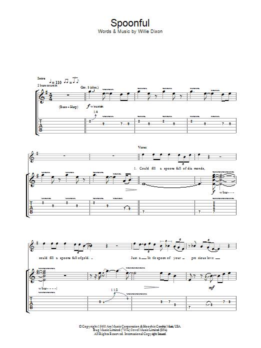 Spoonful Sheet Music