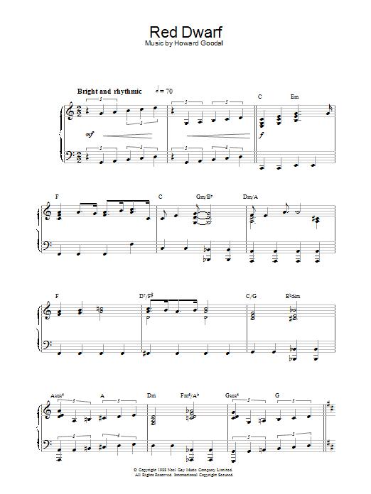 Red Dwarf Sheet Music
