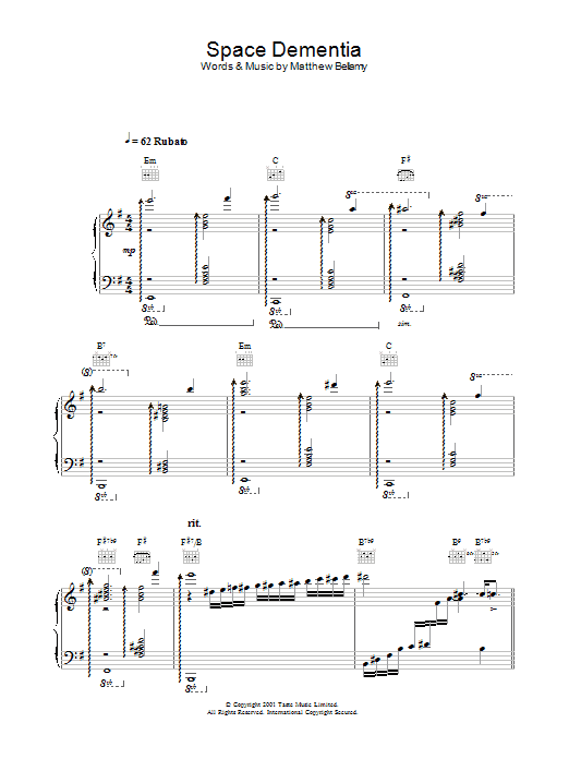 Space Dementia Sheet Music