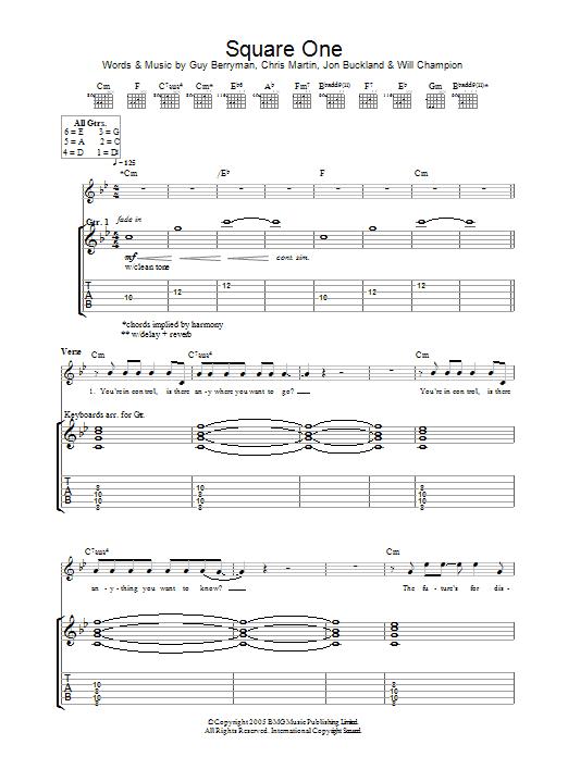 Square One (Guitar Tab)
