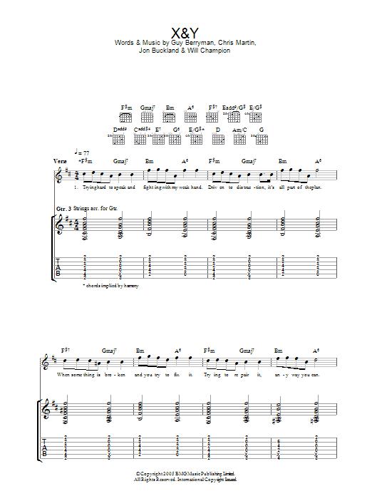 X&Y (Guitar Tab)