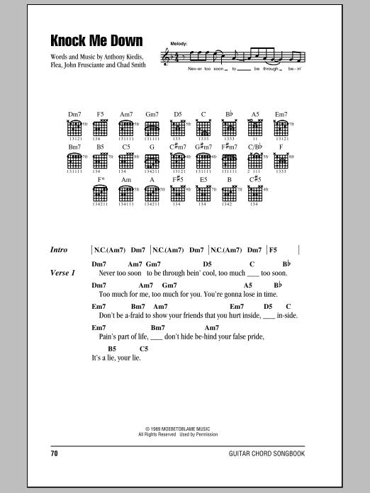 Knock Me Down (Guitar Chords/Lyrics)