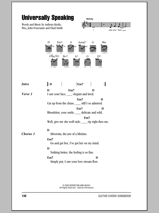 Universally Speaking Sheet Music
