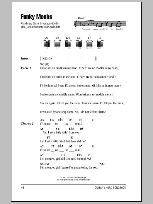 Funky Monks Sheet Music