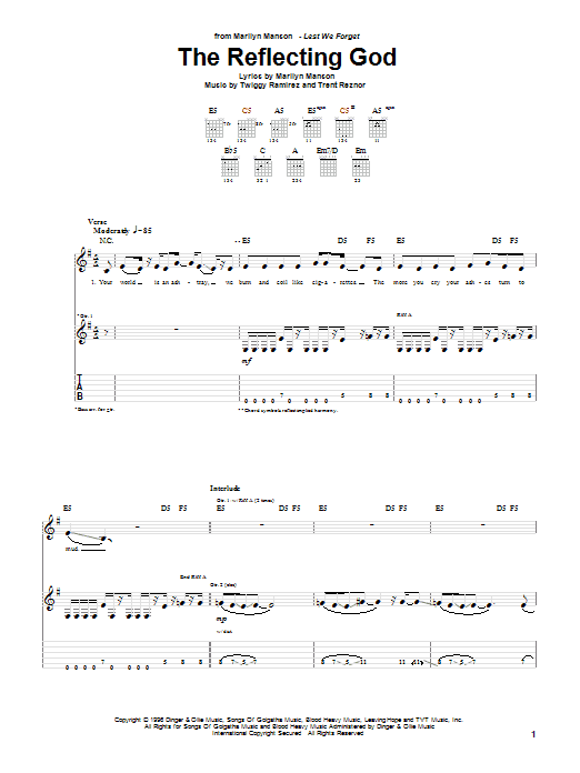 The Reflecting God Sheet Music