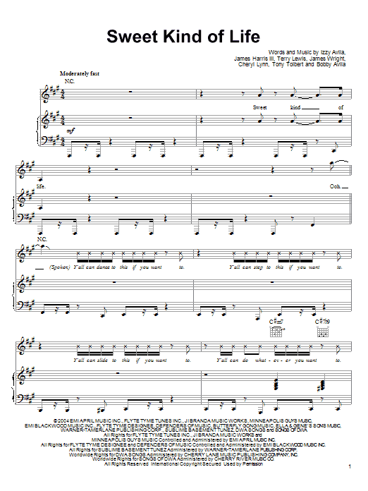 Sweet Kind Of Life (from Shark Tale) Sheet Music