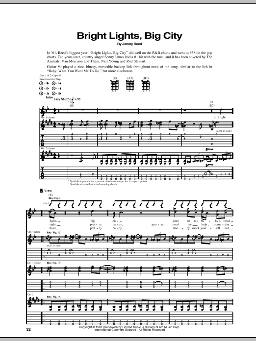 Bright Lights, Big City | Sheet Music Direct