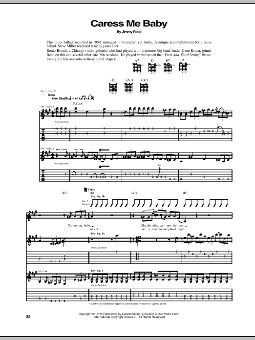 Caress Me Baby Sheet Music